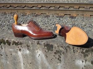 Elrod Shoes Bespoke Portland Norwegian Handmade Fiddleback