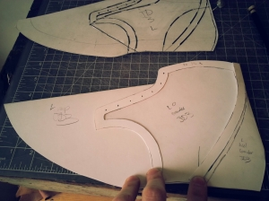elrod shoes derby boot upper pattern