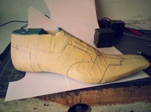 elrod shoes pattern tape method art deco