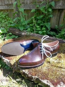reid elrod bespoke wholecut sidelace oxford