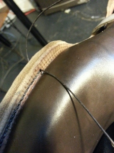 bespoke shoemaking reid elrod sole stitching and fudge marks