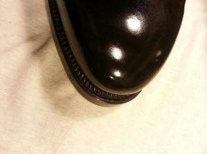 reid elrod bespoke shoemaking mirror shine on toe