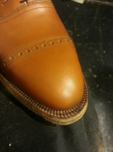 Sole Stitching Handsewn Reid Elrod Bespoke Shoemaking