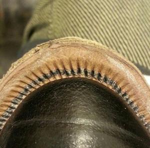 Reid Elrod Handsewn 16 stiches per inch bespoke shoemaking